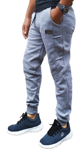 Pantalon Joggin Babucha Doble Frisa Hombres