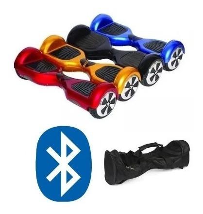 Overboard Skate Eletrico 6,5 Azul E Vermelho Com Bluetooth
