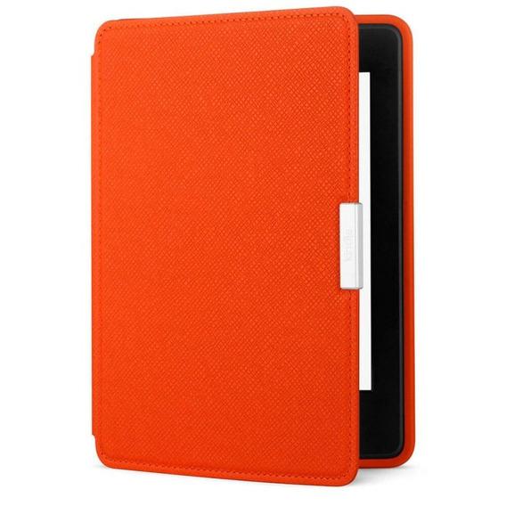 Capa De Couro Amazon Laranja Para Kindle Paperwhite Ao0353