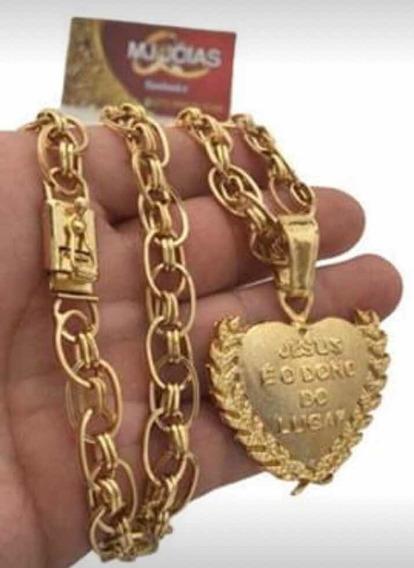 Cordão Imperador Mc Poze Banhado A Ouro 750 70cm 12mm