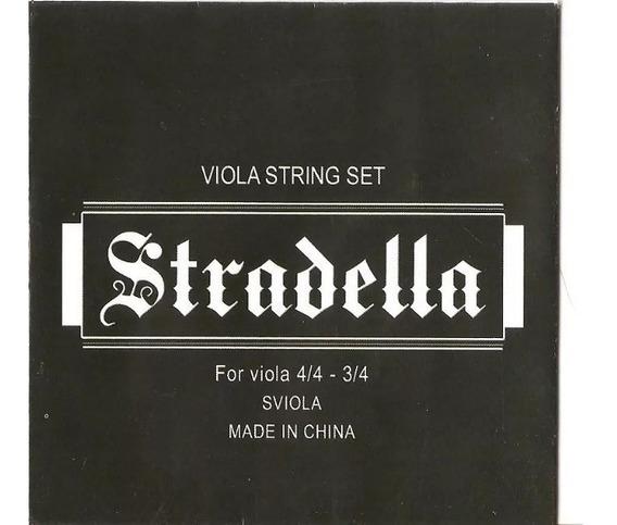 Encordado Juego De Cuerdas Para Viola 3/4 4/4 Stradella