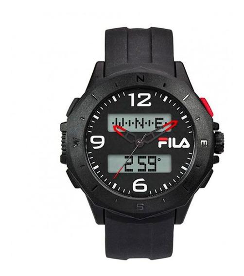 Reloj Fila 38-150-005 Con Brújula Negro-rojo De Caballero