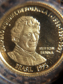 Moeda De Ouro Ayrton Senna