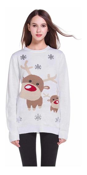 Suéter Navideño Renos Mujer