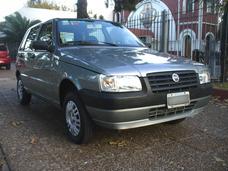Fiat Uno Fire 5p Unico Dueño Excelente Gris 2007