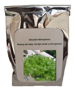 Solución Nutritiva Hidroponica Sales Nutritivas 1000 L