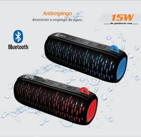 Caixa De Som Portátil Speaker Bt502 Prova Da Agua 15w Lenox
