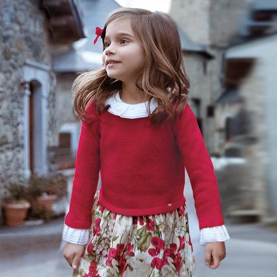 Vestido Mayoral Chic Niña Rojo Est. 4946 8 Años A