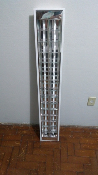 Luminária Calha 20x125 De Embutir Aletada Com Lampadas