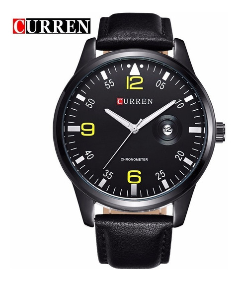 Relógio De Luxo Masculino Curren Analogico Moda Militar