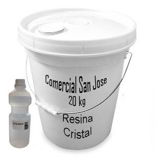 Resina Cristal Vidrio Liquido Poliester X 20kg Con Catalizad