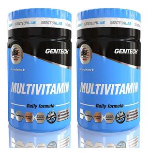 Gentech Multivitamin Daily Formula X 60 Tabletas Pack X 2