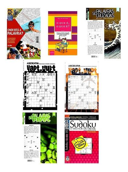 Combo Passatempo Caça Palavra, Cruzadas, O Q É O Q É? Sudoku