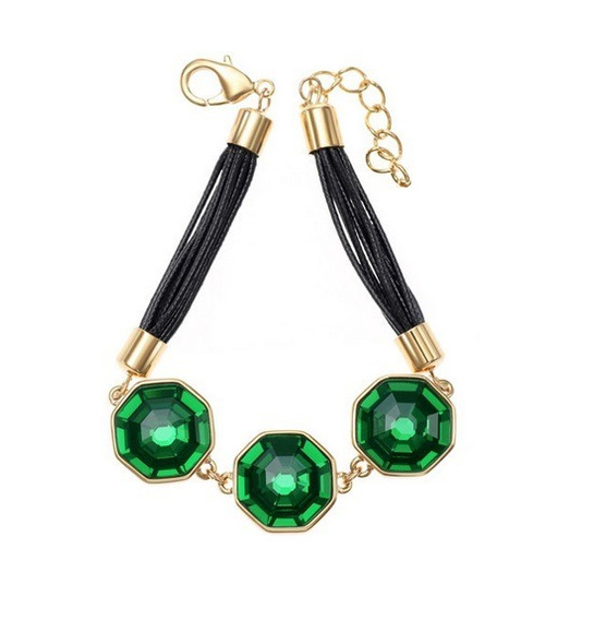 Swarovski Elements Oferta Pulsera Cristal Octagonal Verde