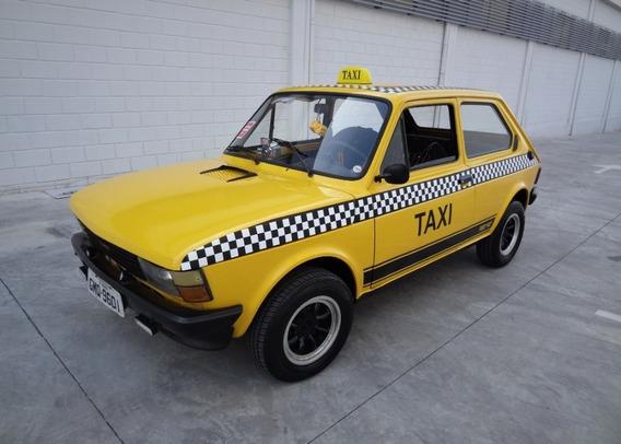 Fiat 147 Amarelo 1980 Táxi Antigo