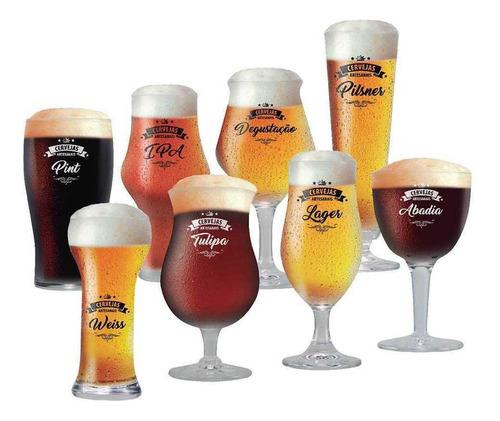 Jogo Copo Cerveja Taça Cerveja Beer Sommelier Clara Conjunto