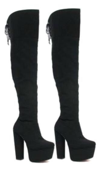 Botas Femininas Sapatos Feminino Bota Cano Alto Body Bruna Marquezine