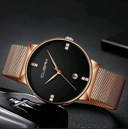 Relógio Masculino De Pulso Cuena Executive Malha De Aço
