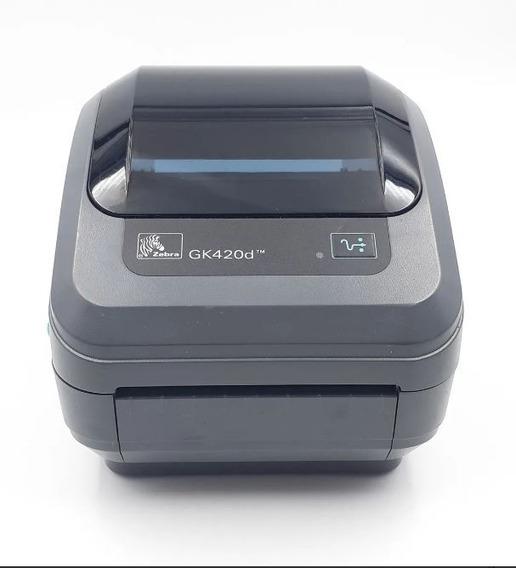 Impressora Térmica De Etiquetas Zebra Gk420-d | Rede | Usb