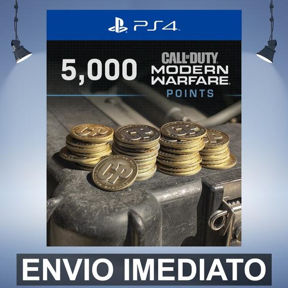 Cod Modern Warfare 5000 Points - Ps4 Código 12 Dígitos