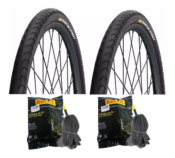 Par Pneu Bike Pirelli Phantom Aro 26x1.95 + 2 Camara Pirelli
