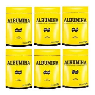 6x Albumina Refil 3kg - Naturovos - Escolha Os Sabores