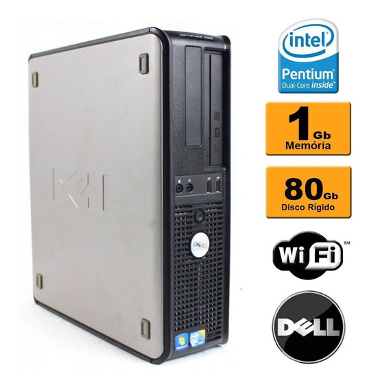 Desktop Slim Dell Optiplex Dual Core 1gb 80gb Recertificado