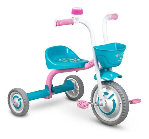 Triciclo Motoca Infantil Menina Charm Rosa Nathor