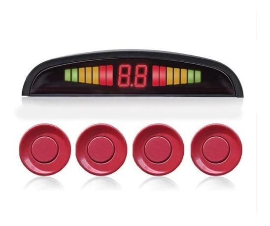 Sensor Estacionamento Ré 4 Sensores Sinal Buzzer Display Led