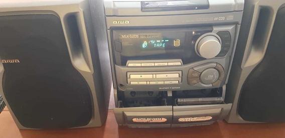 Raridade! Aparelho De Som Mini System Aiwa Nsx-5205 Usado!