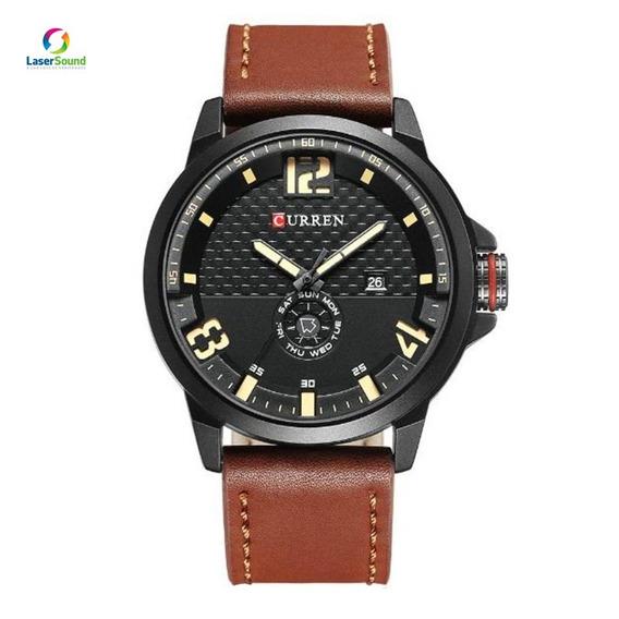 Relógio Masculino Curren 8253 Marrom C/ Garantia E Nf