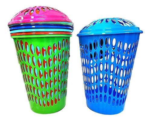 Cesta Ropa Con Tapa Plastica