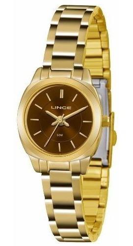 Relógio Lince Feminino Lrg4436l M1kx Dourado Promoção