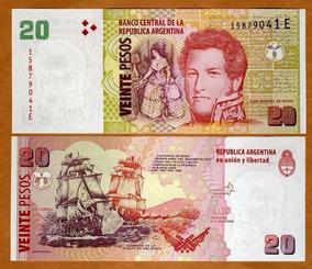 Argentina 20 Pesos 2003 P. 355 Fe Cédula - Tchequito