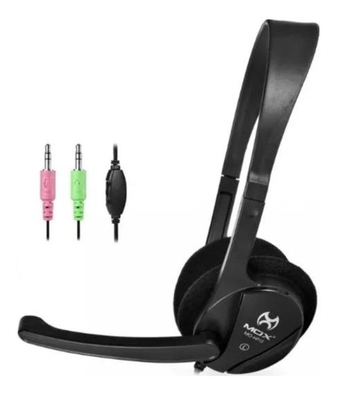 Fone De Ouvido + Microfone Mox Headphone Mo-hp20