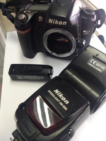 Câmera Nikon D80 + Flash Sb800