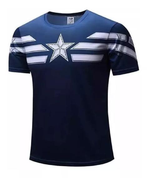 Camiseta Capitão América - Pronta Entrega