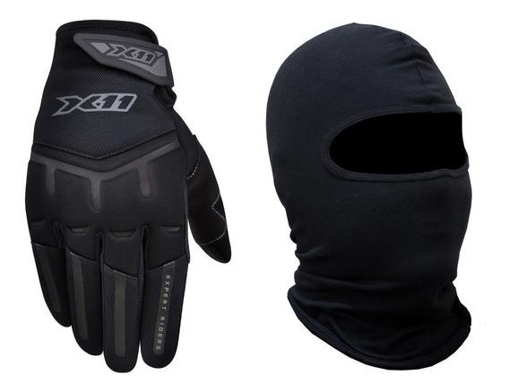 Luva X11 Fit X + Touca Ninja Balaclava - Touchscreen Motoqueiro Moto Motociclista Motoboy Bicicleta Ciclista Ciclismo