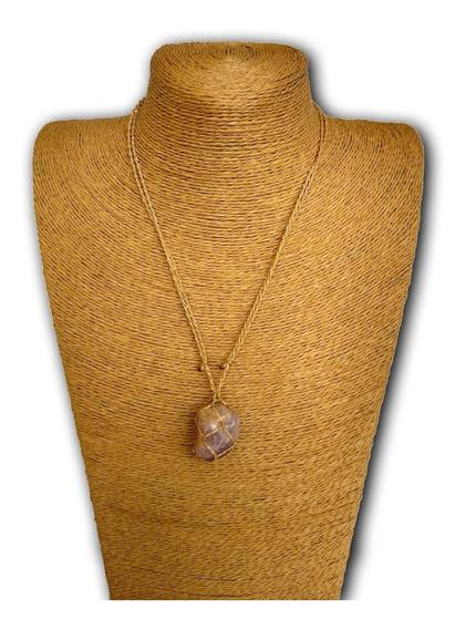 Colar De Pedra Natural Ametista Ref: 7884