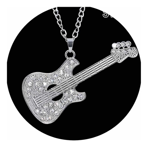 Swarovski Elements Collar Guitarra Musical Regalo Joyería
