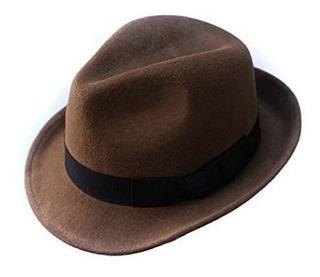 Sombrero Trilby De Lana De Anycosy Sombrero Fedora De Fieltr
