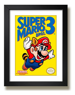 Quadro Super Mario Bros 3 Game Arte Retro Decoracao Paspatur