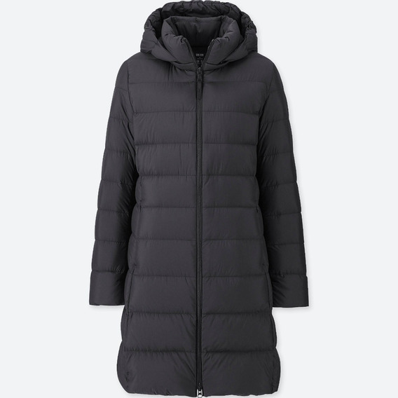 Uniqlo Ultra Light Down Coat Negro Xl Capucha Desmontable Ya