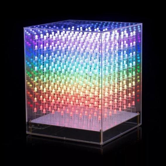 Proyecto Led Cube Rgb 8x8x8 (envío Gratis)