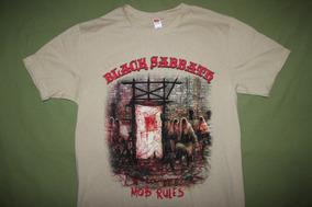 Gusanobass Playera Rock Metal Black Sabbath Mob Rules S M L