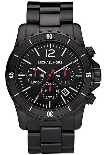 Relógio Michael Kors Mk8161 Madison Chron Anal Black Edition