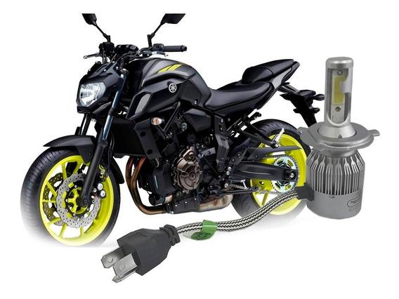 Lampada Super Led 6000k Farol Moto Yamaha Mt 07 2016 Á 2020