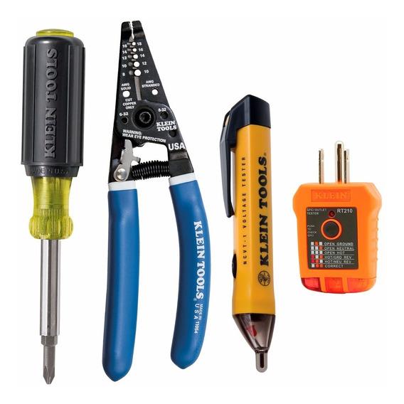 Kit Probador Tomacorriente + Pinza + Desarmador + Probador Klein Tools