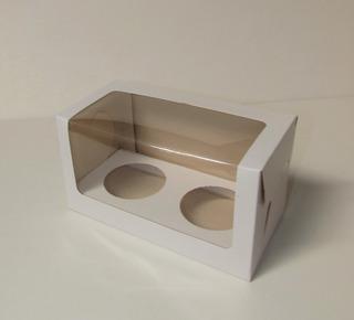Caja Cupcake X2 Visor Pvc 18x9x10 Cm (x50 U.) - 036 Bauletto