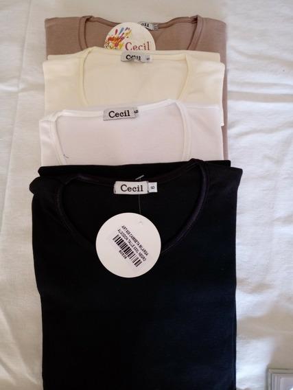 Camiseta Manga Larga Borde Raso Talle 2xl Y 3xl X 2 Unidades